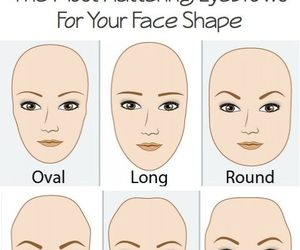 eyebrows, face, and makeup image