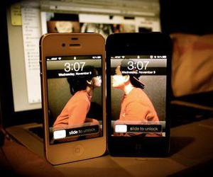 love, iphone, and couple image