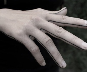hand, tattoo, and pale image