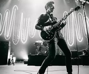 alex turner, black and white, and arctic monkeys image