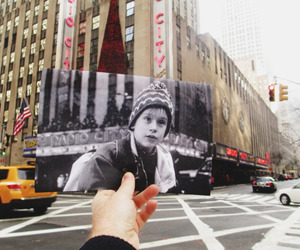 home alone, new york, and movie image