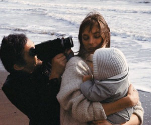 family, couple, and beach image