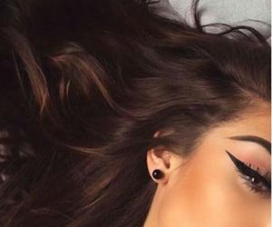 makeup, girl, and brunette image