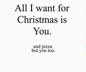 christmas, pizza, and you image
