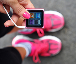 pink, music, and ipod image