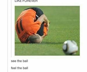 funny, ball, and football image