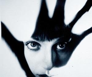 girl, hand, and eyes image