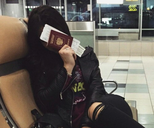 travel, airport, and black image