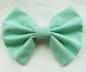 etsy, hairbows, and mint hair bow image
