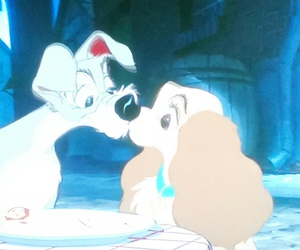 cartoon, disney, and lady and tramp image