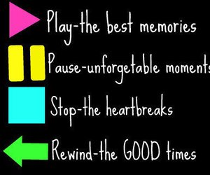memories, pause, and play image
