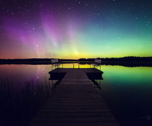 aurora borealis, green, and finland image