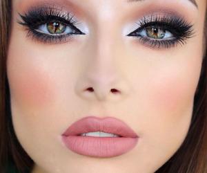 makeup, eyes, and lips image