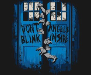 doctor who, tardis, and weeping angels image
