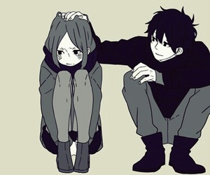 anime, boy, and couple image