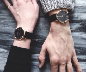 watch, couple, and hands image