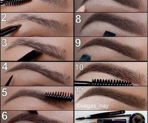 eyebrows, make up, and make up tutorial image