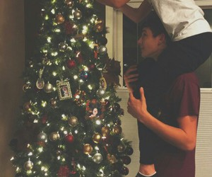 boyfriend, christmas, and spruce image