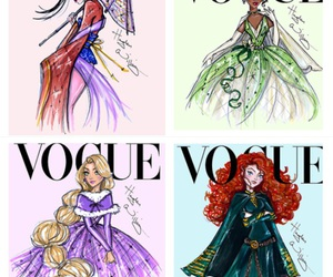 vogue, disney, and princesses image