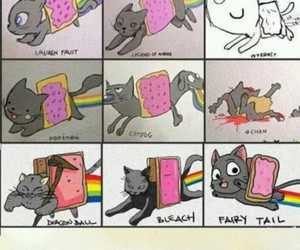 nyan cat, cat, and adventure time image