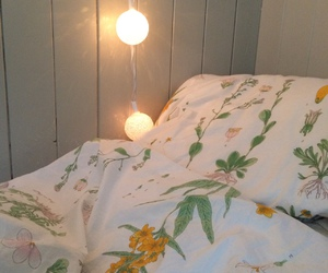 inspiration, lights, and bed image