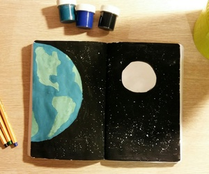 art, gouache, and pages image