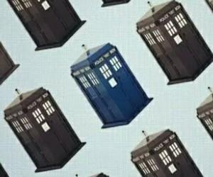 doctor who, tardis, and blue box image