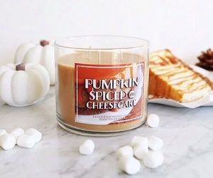 autumn, candle, and marshmallow image