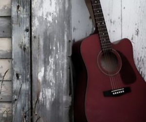 acoustic guitar, guitar, and music image