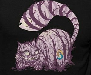 alice in wonderland and Cheshire cat image