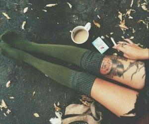 tattoo, coffee, and grunge image