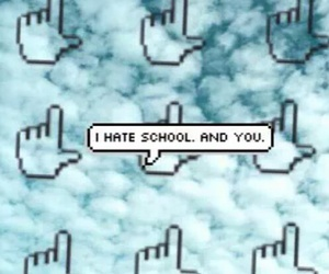 hate, school, and wallpaper image