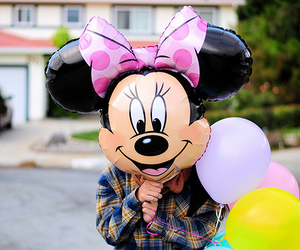 photography, minnie, and balloons image