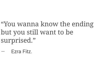 quote, ezra fitz, and pretty little liars image