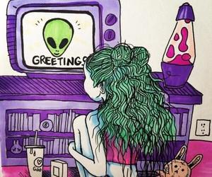alien, grunge, and alternative image