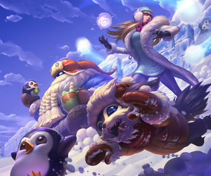 lol, snow, and league of legends image