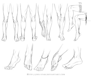 feet, legs, and art image