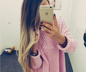 hair, style, and iphone image
