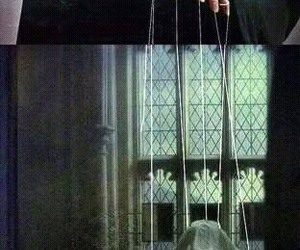 potter, voldemort, and malfoy image