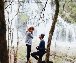 couple, forest, and nature image