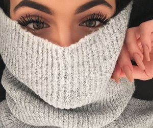 eyes, makeup, and eyebrows image