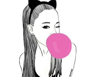 ariana grande, draw, and outline image