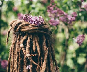 dreadlocks, hair, and peace image