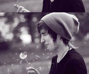 cute, boy, and flowers image