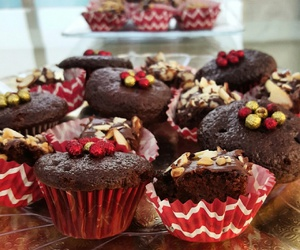 brownies, chocolate, and cupcakes image