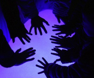 hands, grunge, and purple image