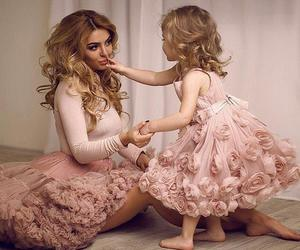 dress, family, and daughter image