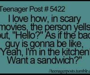 funny, teenager post, and sandwich image