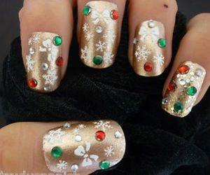 christmas, fashion, and manicure image