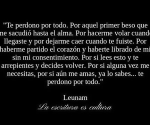 love, frases, and perdon image